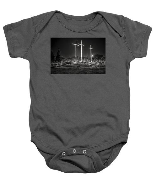 Bearing Witness In Black-and-white 2 Baby Onesie