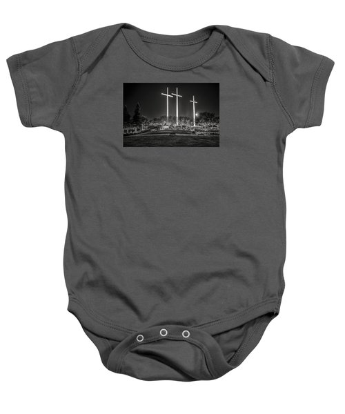 Bearing Witness In Black-and-white 2 Baby Onesie