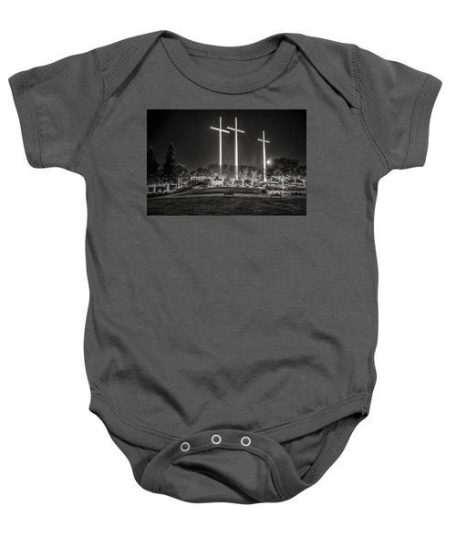 Bearing Witness In Black-and-white Baby Onesie