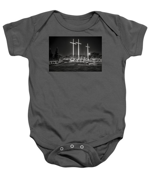Bearing Witness In Black-and-white Baby Onesie