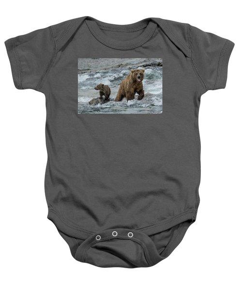 Bears Being Watchful  Baby Onesie