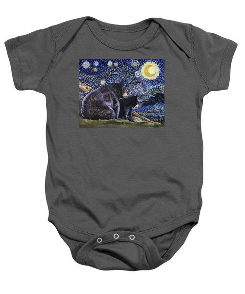 Beary Starry Nights Too Baby Onesie