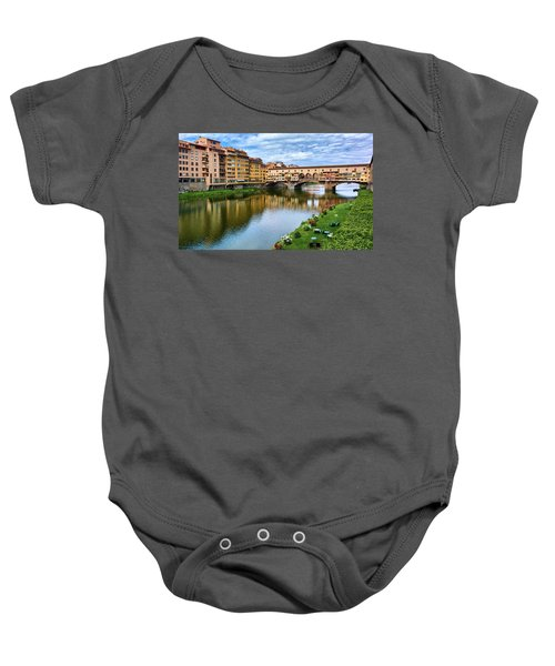 Ponte Vecchio On A Spring Day In Florence, Italy Baby Onesie