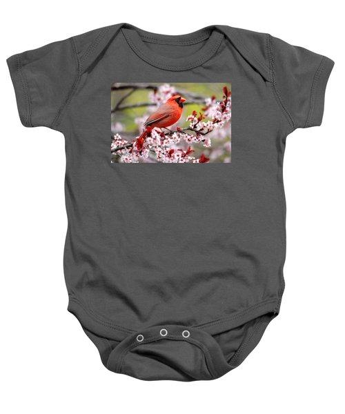 Beautiful Northern Cardinal Baby Onesie