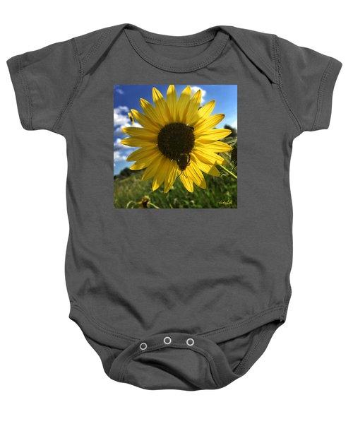Bee And Sunflower Baby Onesie