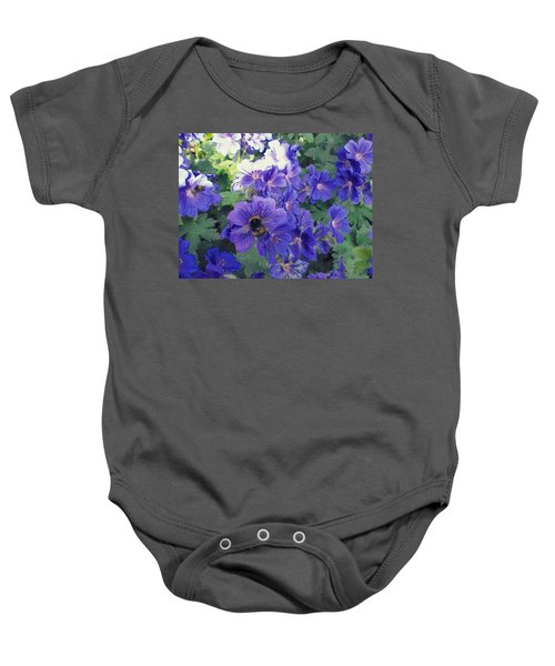 Bees And Flowers Baby Onesie