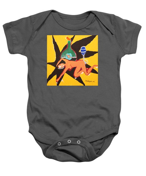 Behind The Curtain Baby Onesie by Jose Rojas