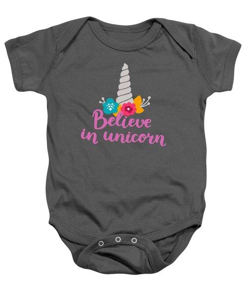 Believe In Unicorn Baby Onesie