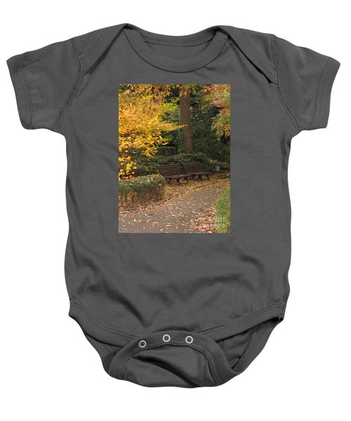 Benches In The Park Baby Onesie