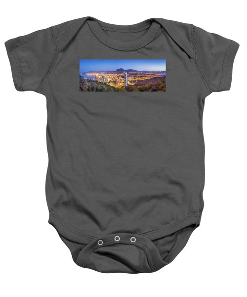 Benidorm At Sunrise, Spain. Baby Onesie