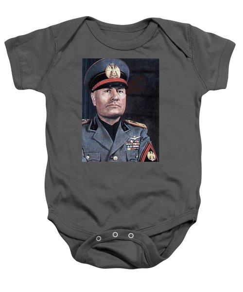 Benito Mussolini Color Portrait Circa 1935 Baby Onesie