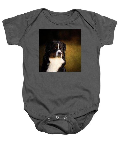 Bernese Mountain Dog Baby Onesie