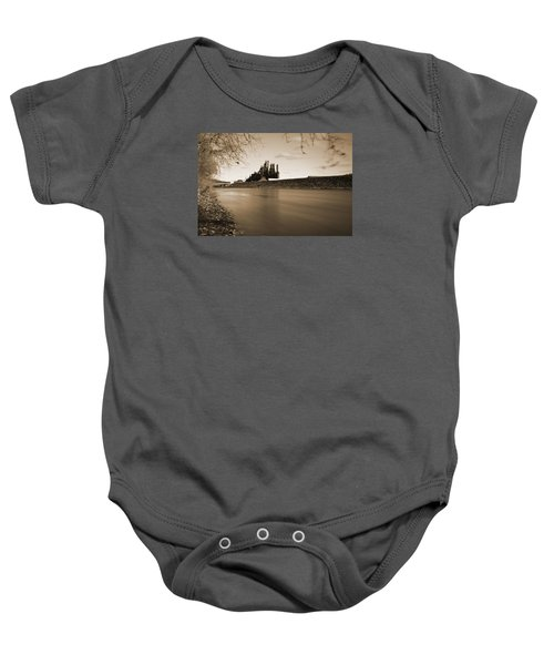 Baby Onesie featuring the photograph Bethlehem Steel Along The Lehigh by Jennifer Ancker