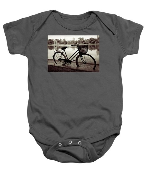 Bicycle By The Lake Baby Onesie