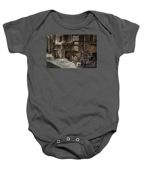 Bicycle In Rome, Italy Baby Onesie