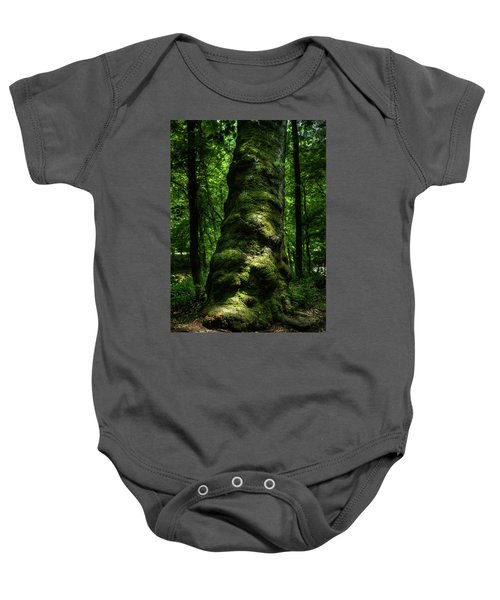 Big Moody Tree In Forest Baby Onesie