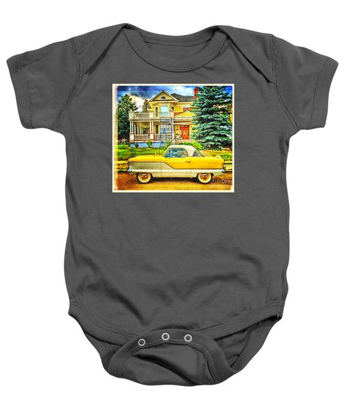 Big Yellow Metropolis Baby Onesie