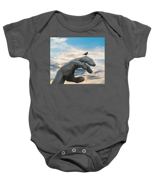 Bird On Hand Baby Onesie