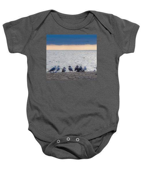 Birds On A Beach Baby Onesie