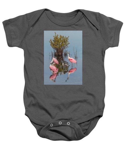 Birds, Reflections, And Mangrove Bush Baby Onesie
