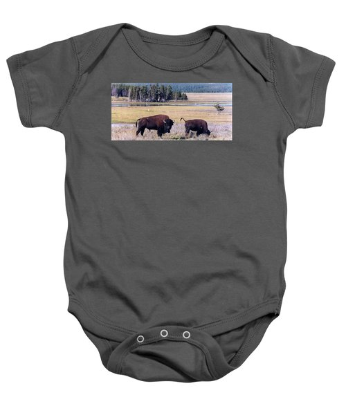 Bison In Yellowstone Baby Onesie