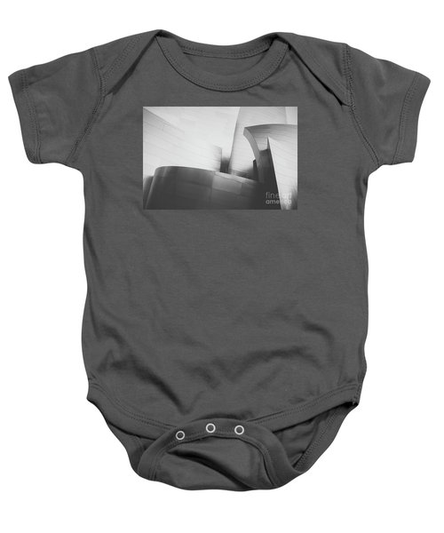 Baby Onesie featuring the photograph Black And White Arcitechture by MGL Meiklejohn Graphics Licensing