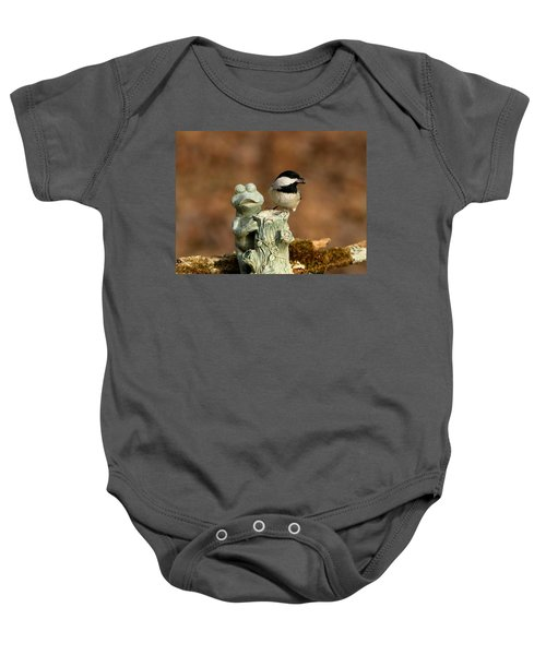 Black-capped Chickadee And Frog Baby Onesie