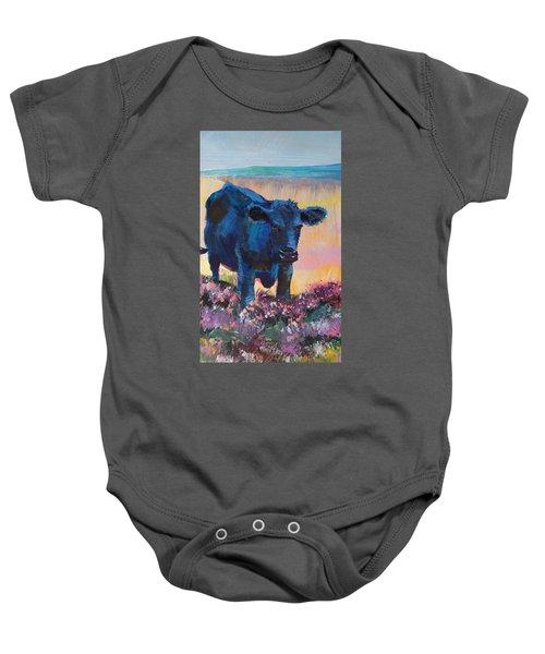 Black Cow On Dartmoor - Looking Moody Baby Onesie