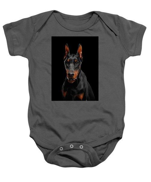 Black Doberman Baby Onesie
