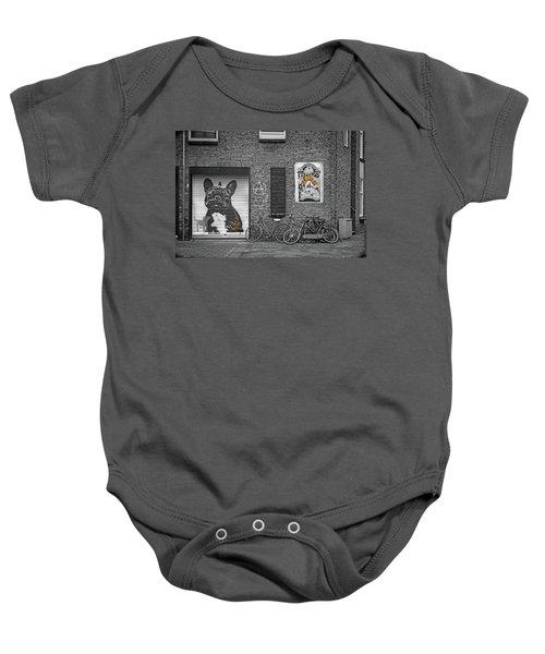 Black Dog Led Zeppelin Baby Onesie
