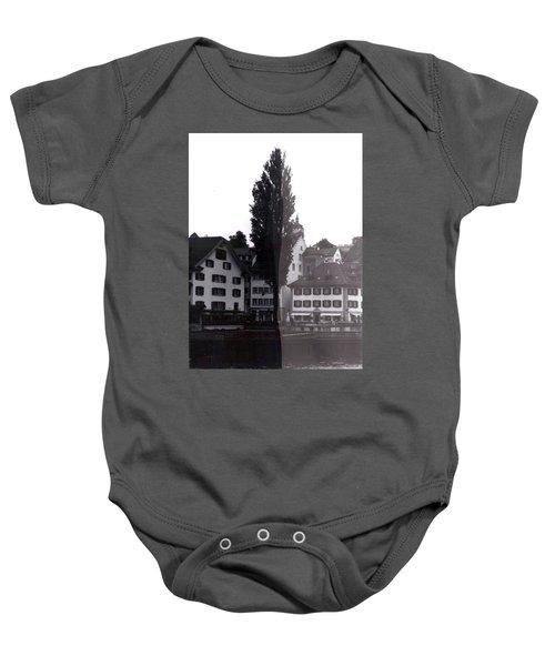 Black Lucerne Baby Onesie