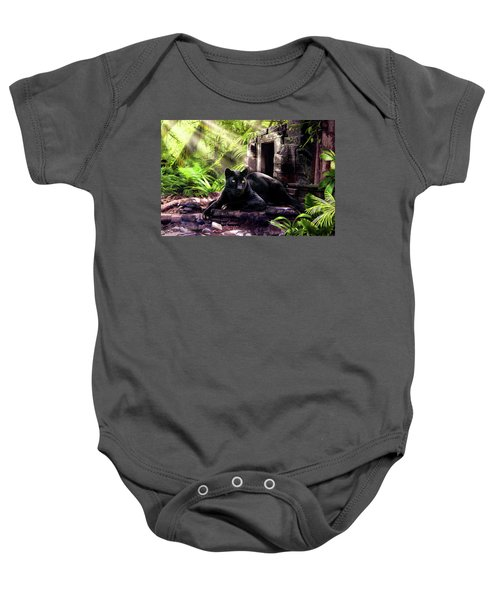 Black Panther Custodian Of Ancient Temple Ruins  Baby Onesie