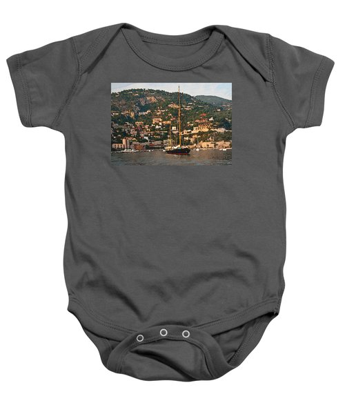 Black Sailboat At Villefranche II Baby Onesie