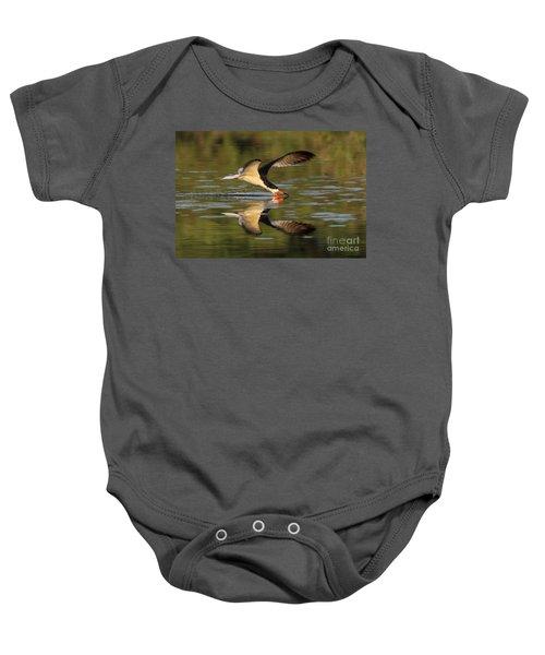 Black Skimmer Fishing Baby Onesie