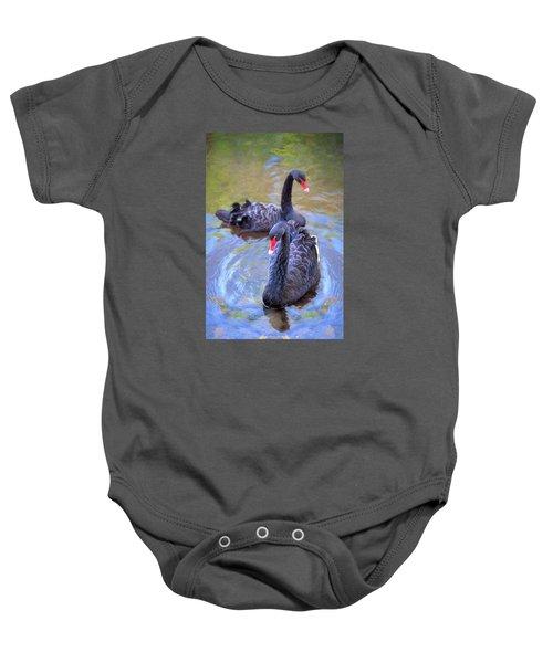 Black Swans Baby Onesie
