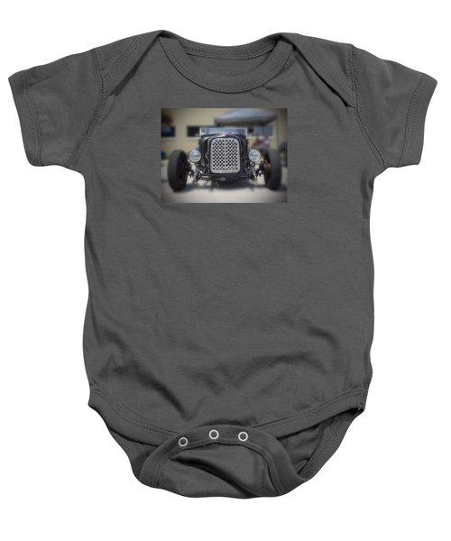 Black T-bucket Baby Onesie