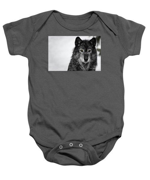 Black Wolf I Baby Onesie