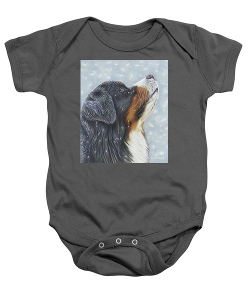 Baby Onesie featuring the painting Blissful Blue  by Donna Mulley