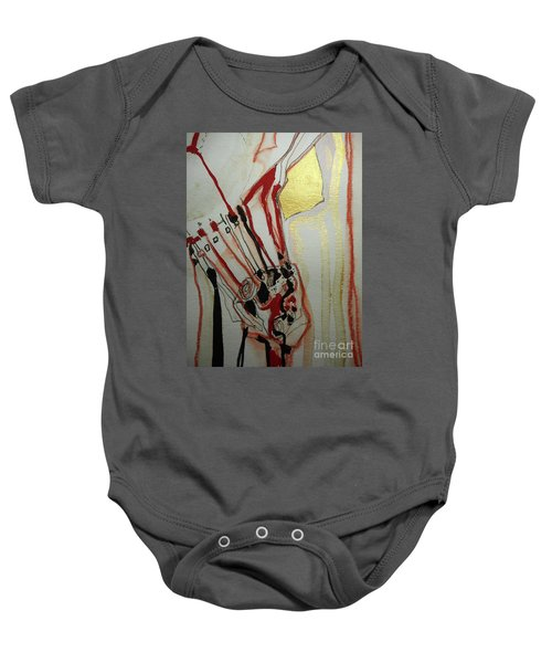 Blood Flowers Baby Onesie