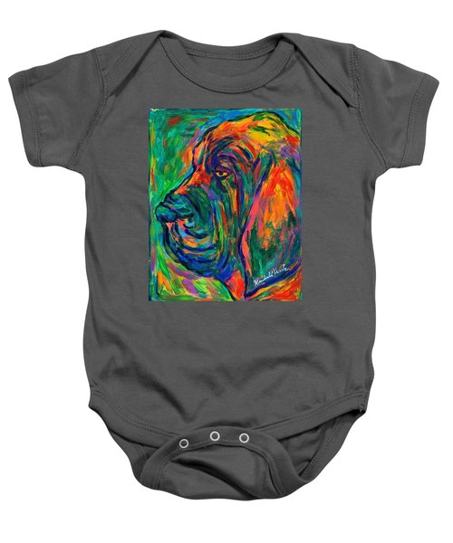 Baby Onesie featuring the painting Bloodhound  by Kendall Kessler