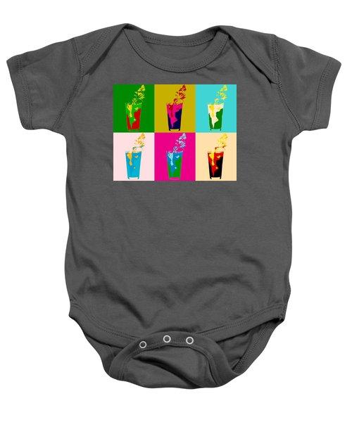 Bloody Mary Pop Art Panels Baby Onesie