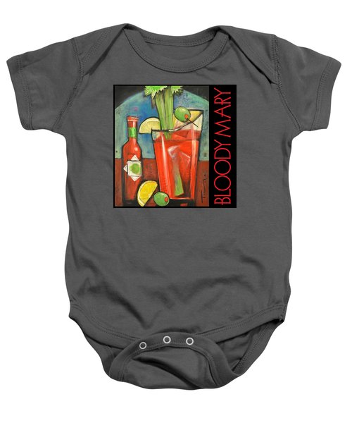 Bloody Mary Poster Baby Onesie by Tim Nyberg