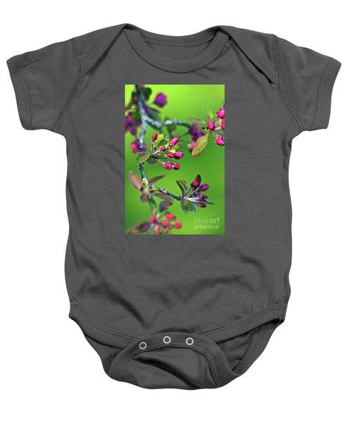 Blooming Spring Poetry Baby Onesie