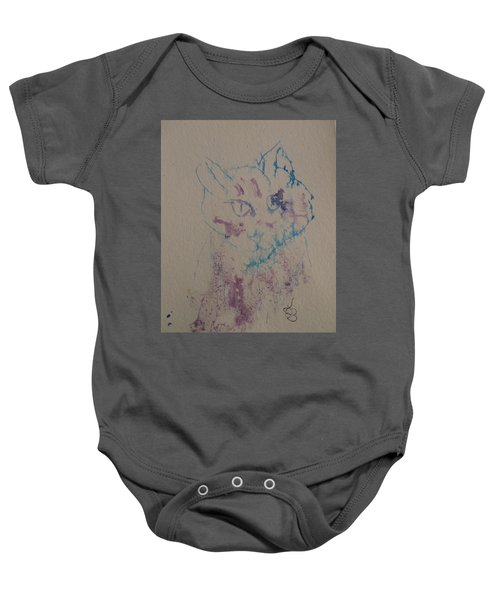 Blue And Purple Cat Baby Onesie