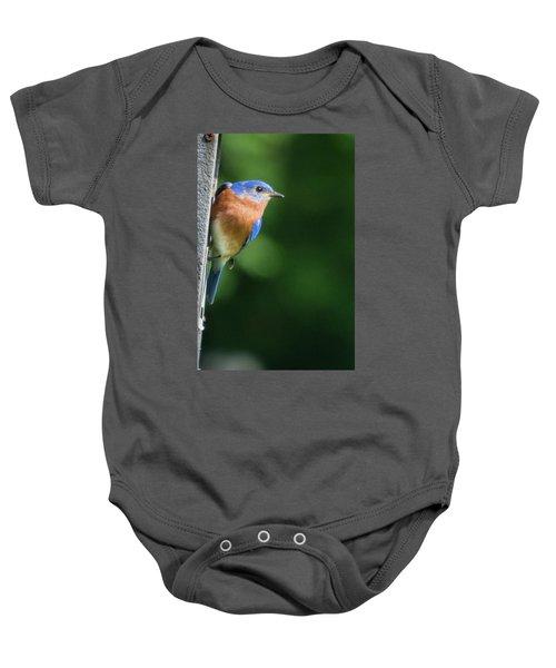 Blue Bird Baby Onesie