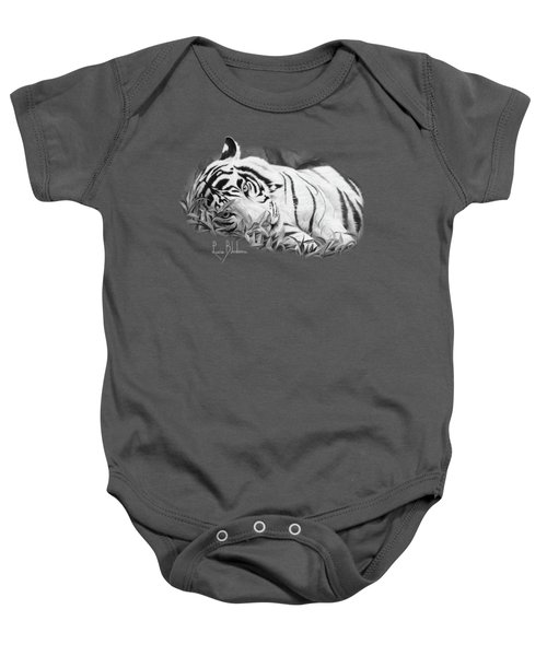 Blue Eyes - Black And White Baby Onesie by Lucie Bilodeau