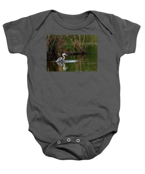 Blue Heron Pond Baby Onesie