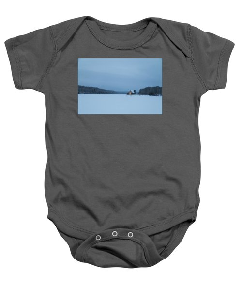 Blue Hour At The Old Stone Church Baby Onesie