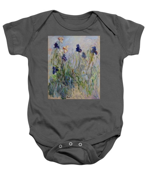 Blue Irises In The Field, Painted In The Open Air  Baby Onesie