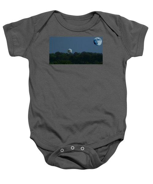 Blue Moon Over Zanesville Water Tower Baby Onesie